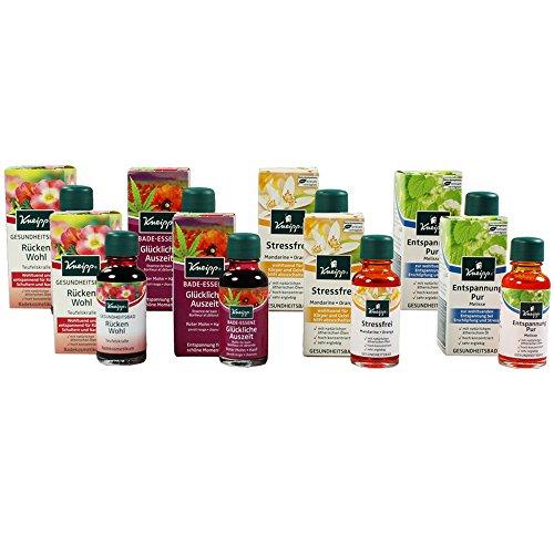 Kneipp Gesundheitsbad Badeöl Bade-Essenz Aromatherapie (8er Set)