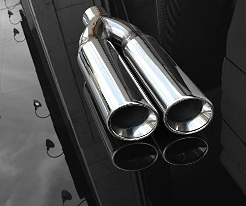 Exhaust Muffler Tip Dual Round 4