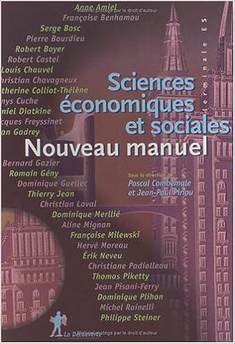 Téléchargement d'ebooks to nook gratuitement Sciences économiques et sociales Terminales ES. Nouveau manuel, 3ème édition DJVU