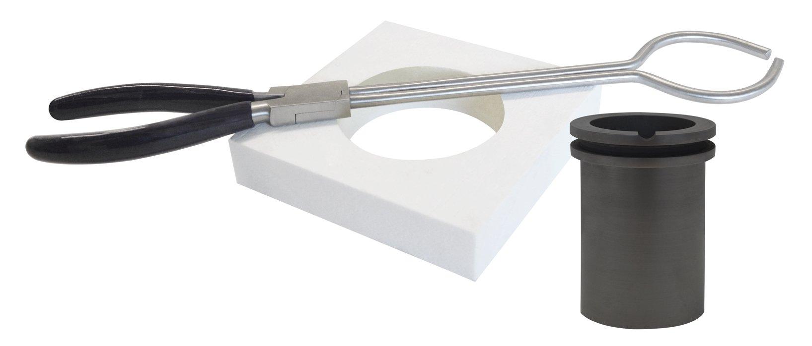 100 Oz Deluxe Tabletop QuikMelt Topper Kit Tongs Flange Crucible Jewelry Making Metal Furnace Kiln Tools