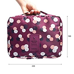 Pockettrip Clear Cosmetic Makeup Bag Toiletry Travel Kit Organizer