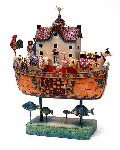 Jim Shore - Heartwood Creek - Noahs Ark Dove Roof Tucker by Enesco - (Noahs Ark Jim Shore)