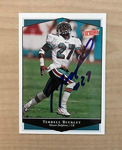 - TERRELL BUCKLEY MIAMI DOLPHINS SIGNED AUTOGRAPHED 1999 VICTORY CARD #139 W/COA
