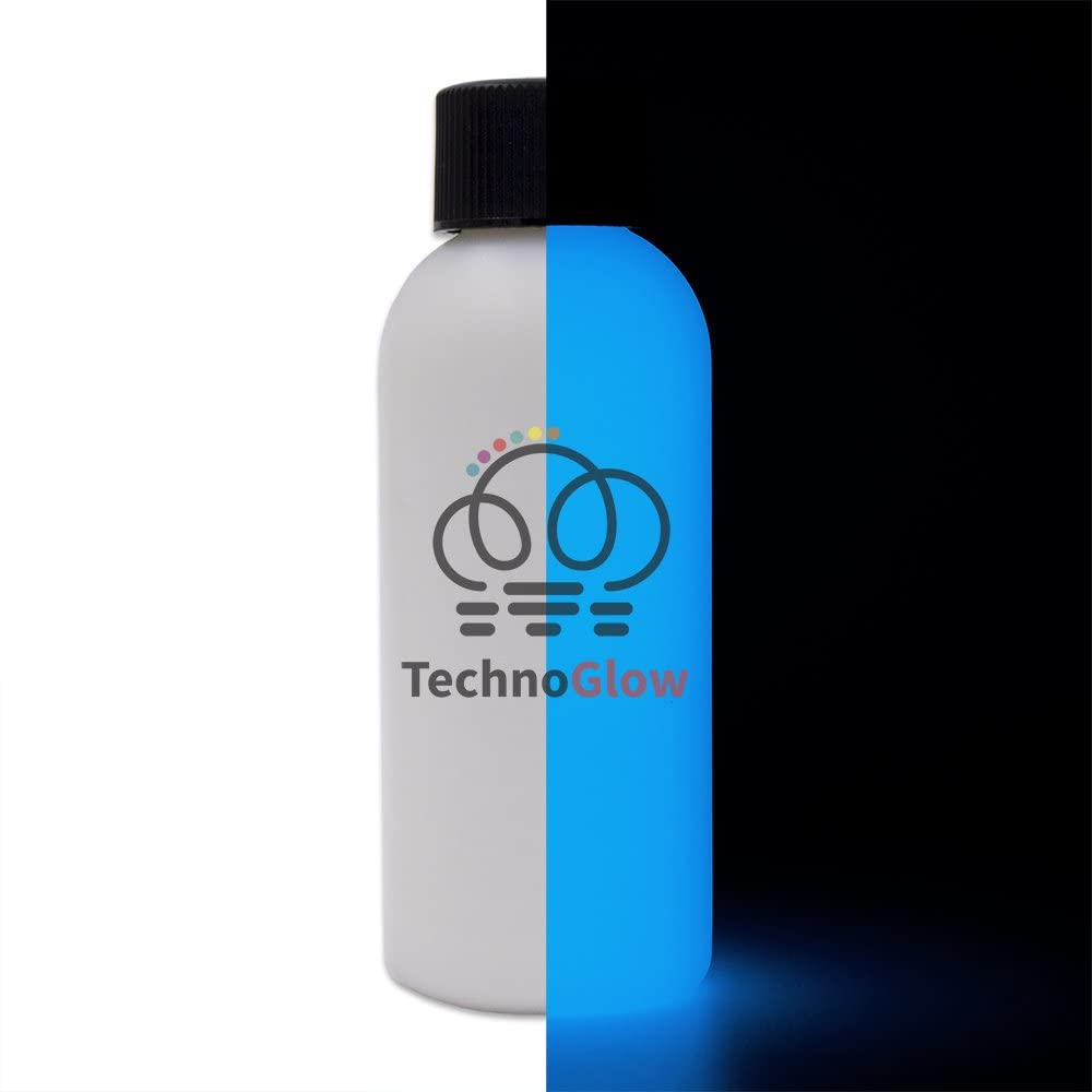 Glow in The Dark Paint, Bright Blue Glow - Multiple Colors 2 fl oz