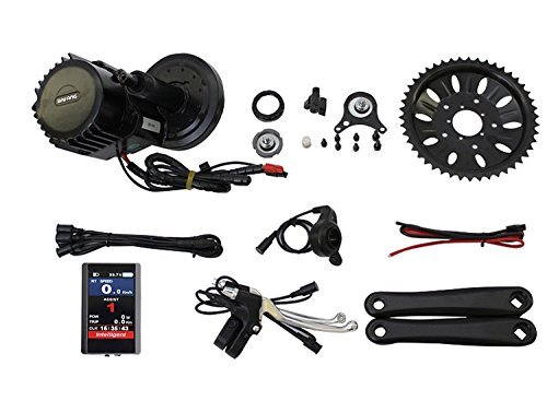 8fun Latest BBSHD BBS03 48V 1000W Bafang Mid Drive Motor Ebike bicycle Kit BB 68mm with Colour Display For Sale