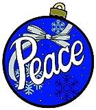 Peace Car Magnet Christmas Bulb Design Automobile