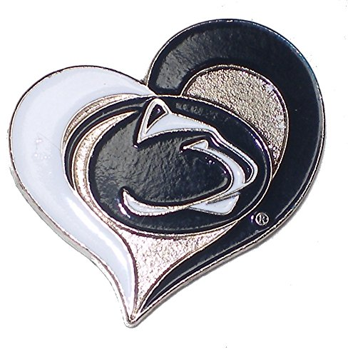 Penn State Nittany Lions Lapel Pin Heart Design NCAA Licensed Lions Logo Pin