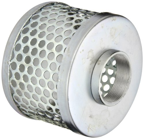 PT Coupling Carbon Steel Round Hole Pump Suction Strainer, 2'' by PT Coupling