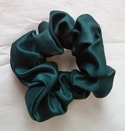 Price comparison product image Blue Green Tourmaline Satin Hair Scrunchies-Small - Made in the USA