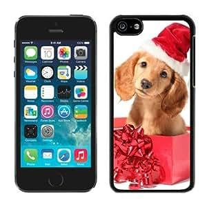 Individualization Iphone 5C TPU Case Christmas Dog Black iPhone 5C Case 4