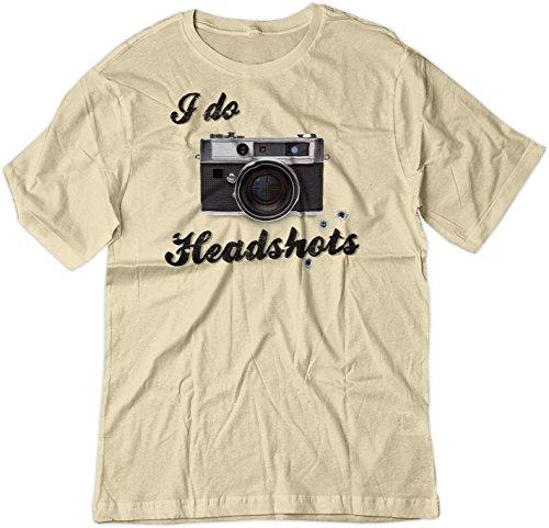 BSW Men's I Do Head Shots Vintage Camera Sniper Shirt XS Natural