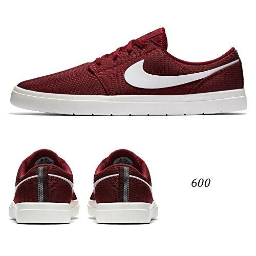 Nike Portmore Mens Ii Équipe Chaussure De Skate Ultra-léger Rouge / Blanc-sommet Blanc-noir