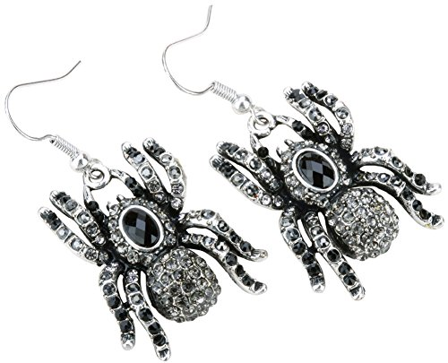 YACQ Jewelry Spider Crystal Dangle Earrings Halloween Party Gifts for Women Teen Girls ()