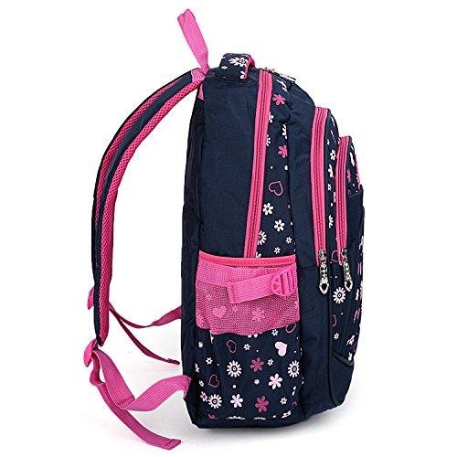 UTO Rucksack Senior Flowers Oxford Teenager Primary Black black School Waterproof High Nylon Child Cloth Junior Backpack Sun Bookbag Aq0rCA