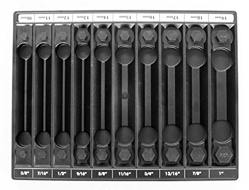 Tool Sorter Socket Organizer Black - Metric and SAE - Made in the USA