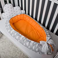 Baby nest bed or toddler size nest, clouds pattern, portable crib, co sleeper babynest for newborn and toddler nest bed, grand nest, crib bumper, newborn nest, cocoon baby bassinet