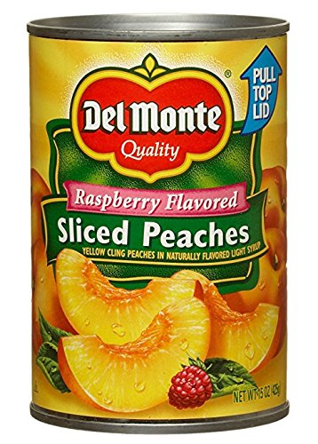 Del Monte Raspberry Flavored Sliced Peaches 15 oz. (Pack of 2)