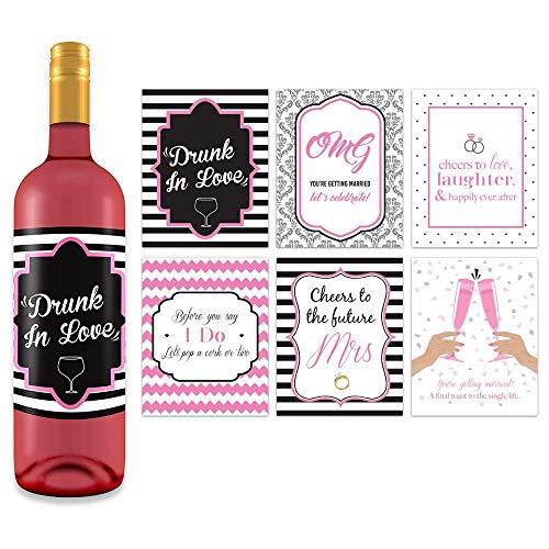 (Bachelorette Wedding Wine Bottle Labels - 4