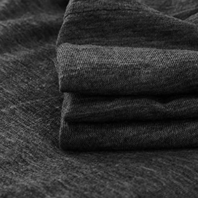 Women Long Sleeve T-Shirt Pullover,Fashion Loose Sweatshirt O-Neck Casual Solid T-Shirt Blouse Tops T-Shirt Dress: Clothing