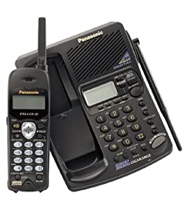 Panasonic KXTC1871 900 MHz DSS Cordless Phone with Answering System, Dual Keypads, and Caller ID (Black)
