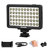 Commlite CM-L50 LED Camera Video Light, 50 LED 5700-6000K Dimmable Mini Panel Light for Smartphones and Cameras, fit for Canon, Sony, Nikon, iPhone, Samsung, Huawei and More