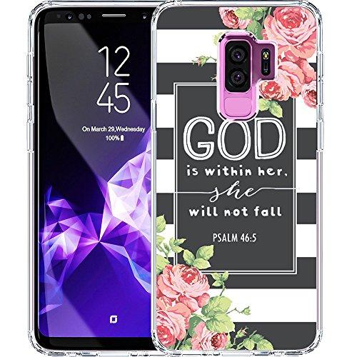 S9 Plus Case, LAACO Scratch Resistant TPU Gel Rubber Soft Skin Silicone Protective Case Cover for Samsung Galaxy S9 Plus Bible Reference Psalm 46:5