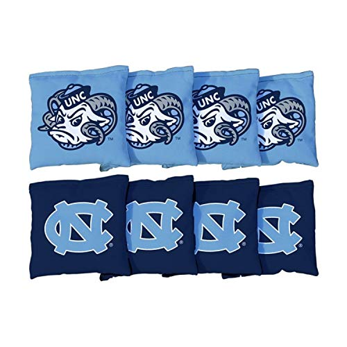 Victory Tailgate NCAA Collegiate Regulation Cornhole Game Bag Set (8 Bags Included, Corn-Filled) - North Carolina Tar Heels UNC