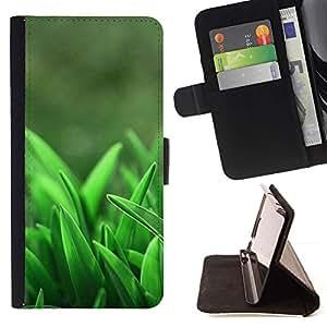 For Samsung Galaxy S6 EDGE (NOT S6) Plus / S6 Edge+ G928 Case , Hierba Crecer primavera Naturaleza- la tarjeta de Crédito Slots PU Funda de cuero Monedero caso cubierta de piel