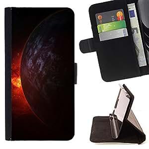 BullDog Case - FOR/LG OPTIMUS L90 / - / Space Planet Galaxy Stars 9 /- Monedero de cuero de la PU Llevar cubierta de la caja con el ID Credit Card Slots Flip funda de cuer