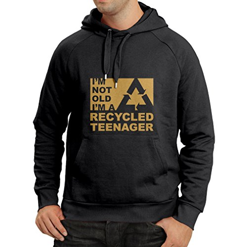 N4267H Hoodie I am Not Old (X-Large Black Gold)