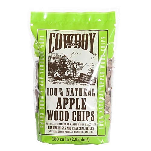 - Charcoal 180 Cubic Inch Apple Wood Chips