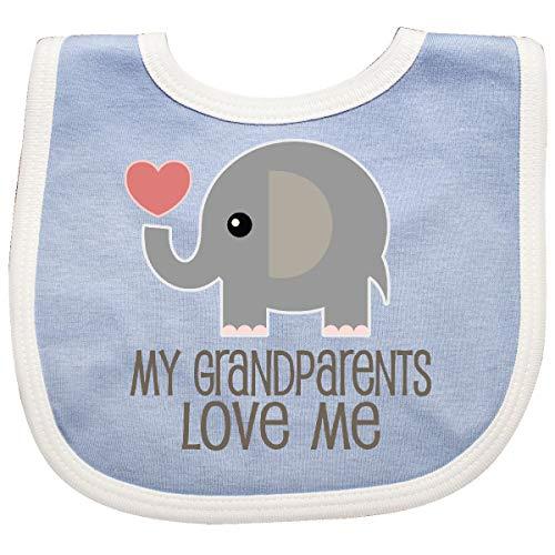Inktastic - My Grandparents Love Me Elephant Baby Bib Blue/White 32f02