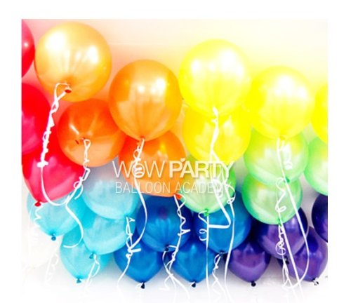 10'' Rainbow Colors Latex Helium Balloons (100pcs)