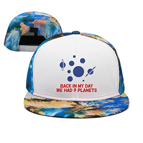 ple Planets Custom Vintage Style Flat Bill Fitted Hats CPS ()