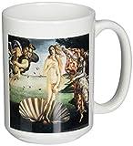 3dRose Birth of Venus by Sandro Botticelli Ceramic Mug, 15-Ounce