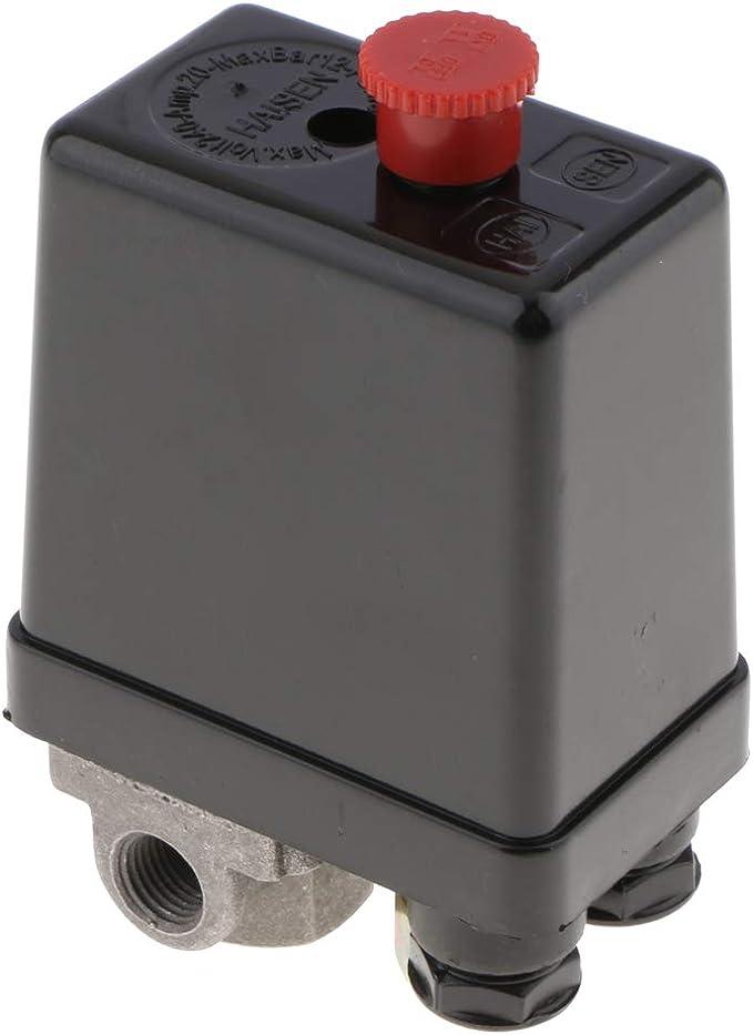 1 Port 3 Port Luftkompressor Pumpe Druck Ein Aus Knopf Schalter Steuerventil Vertikal Typ Ersatzteil Druckregler Druckschalter 3 Anschluss Baumarkt