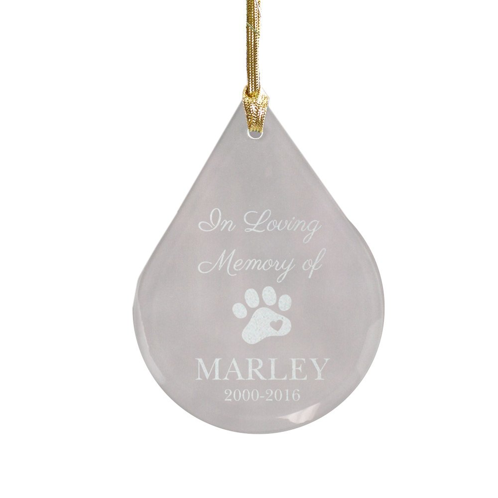 GiftsForYouNow Teardrop Pet Memorial Ornament