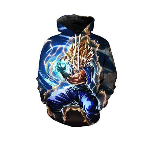 Harry Shops Halloween Holiday Dragon Ball Costume Hoodie-NB-Male-XX-Large (Buy Goku Halloween Costume)