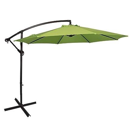 Sundale Outdoor 10 Feet Aluminum Offset Patio Umbrella with Crank and Cross Bar Set Cantilever  sc 1 st  Amazon.com & Amazon.com : Sundale Outdoor 10 Feet Aluminum Offset Patio Umbrella ...