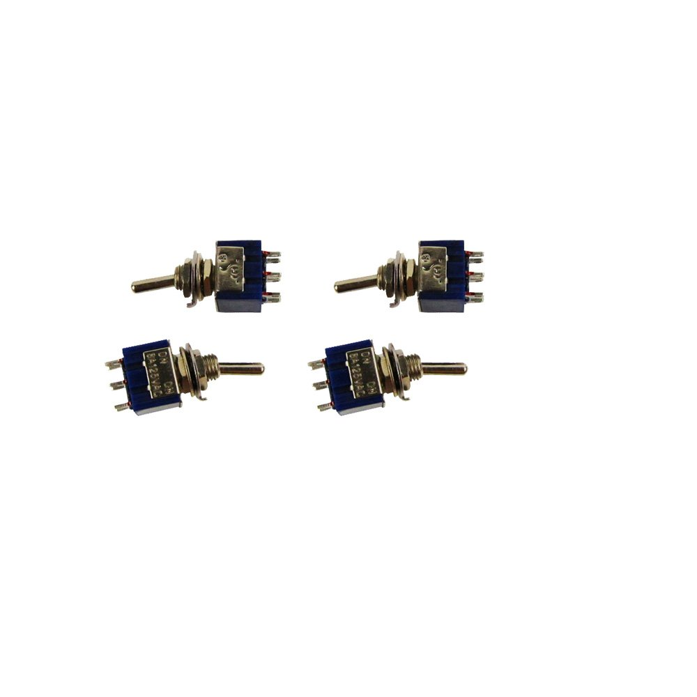 Musiclily Ac 125v 6a 6 Pin Spdt On Off 3 Way Mini Toggle Switch