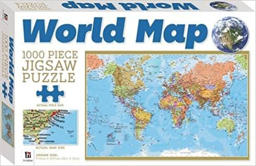 Buy World Map 1000 Piece Jigsaw Puzzle Puzzlebilities Book