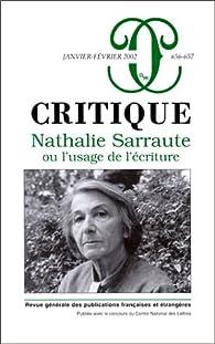 Critique, numéro 656-657 : Nathalie Sarraute ou l'Usage de l'écriture par Revue Critique