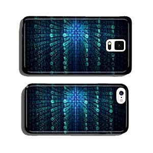 Matrix background with the green and blue symbols cell phone cover case iPhone5