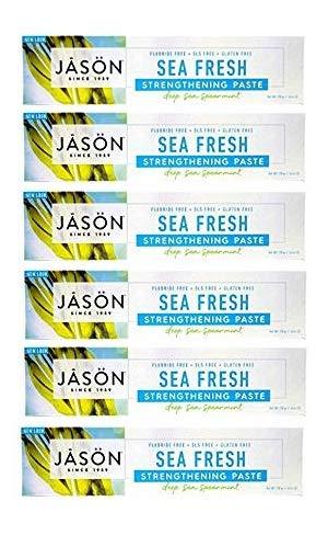 Jason All-Natural Toothpaste, Sea Fresh - 6 oz - 6 pk