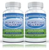 PURIFLUSH ULTRA (2 Bottles) - Advanced All-Natural Colon Cleansing Formula - Best Intestinal Cleanse Supplement (60 Capsules per Bottle)