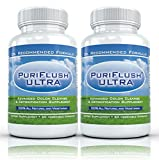 PURIFLUSH ULTRA (2 Bottles) – Professional Strength All-Natural Colon Cleanse Supplement (60 Capsules per Bottle)