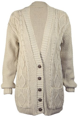 Cable Cardigan Sweater - 8