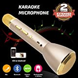 #9: Wireless Karaoke Microphone, Handheld Bluetooth Speaker Player Recording Machines for Kids Adult Music Singing Playing, Home KTV Usb Karaoke System Support IPhone/Android/IOS/Smartphone