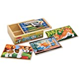 Melissa & Doug Pets 4-in-1 Wooden Jigsaw Puzzles in a Storage Box (48 pcs)