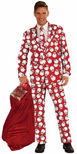 Forum Novelties Men's Plus Size Santa Suit Costume, Multi, X-Large -
